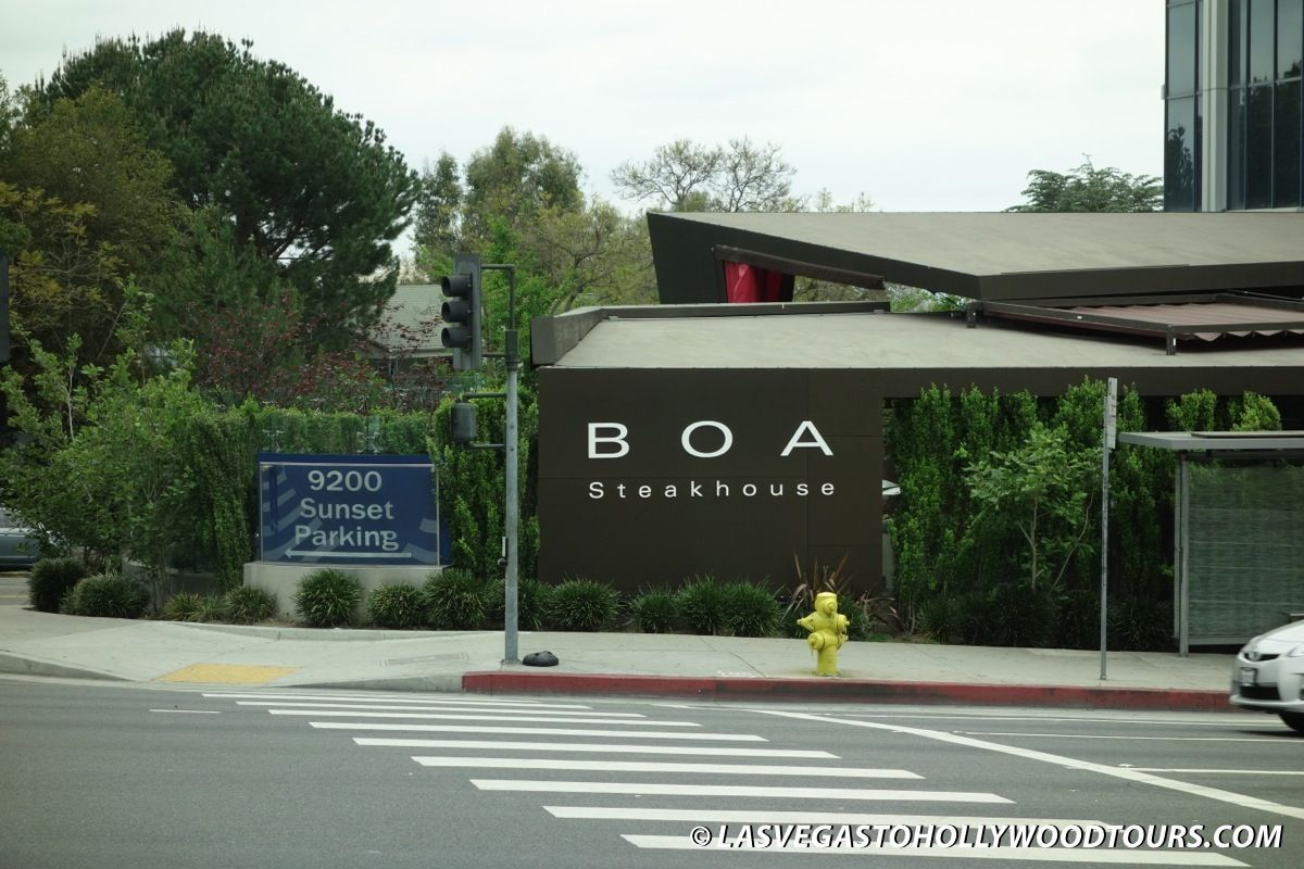 BOA Steakhouse Sunset Strip Hollywood CA Paramount