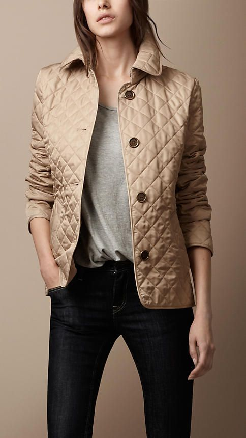 08cf89cfae724 Burberry Quilted Jacket's color is really nice, like the jeans too. A  winning combo.