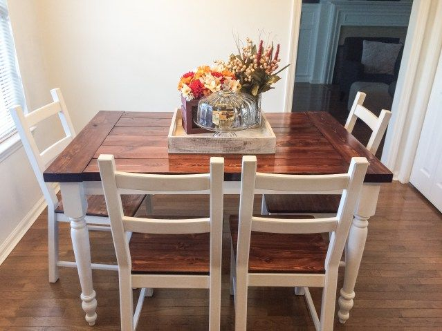 Ikea Hack From Ingo To Farmhouse Table Ikea Dining Table Hack