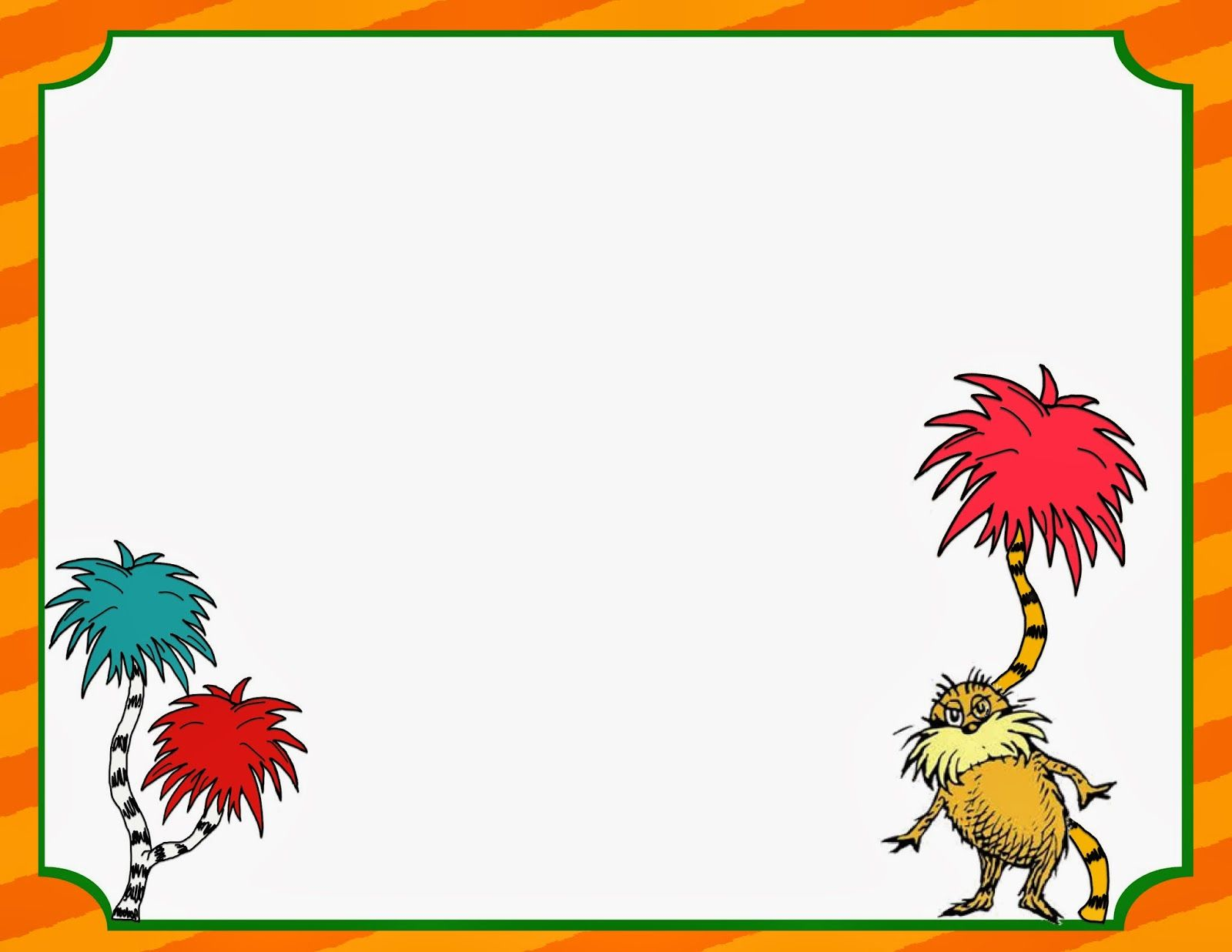 free printable dr seuss writing pages for primary grades dr