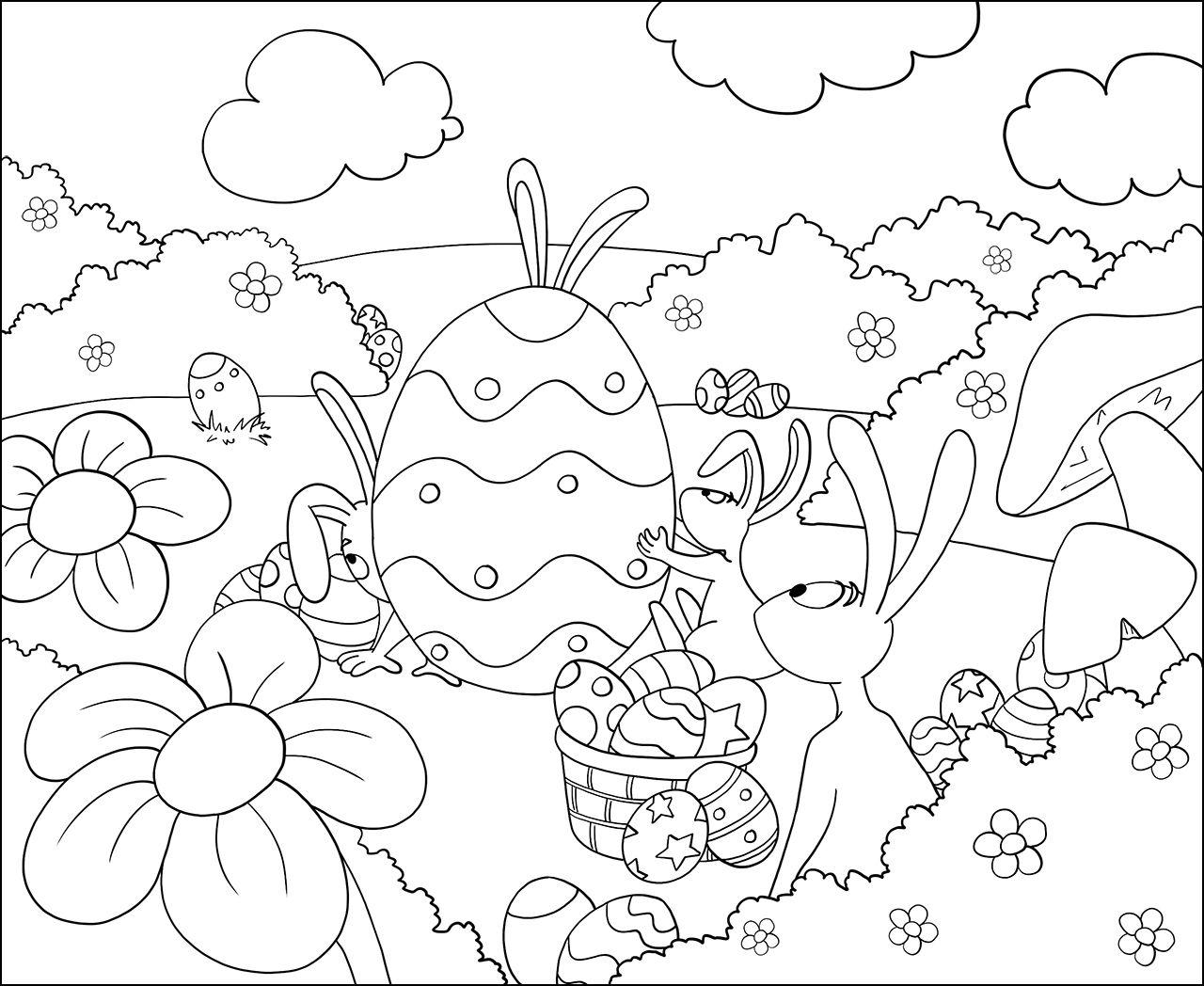coloriage pques colorier dessin imprimer