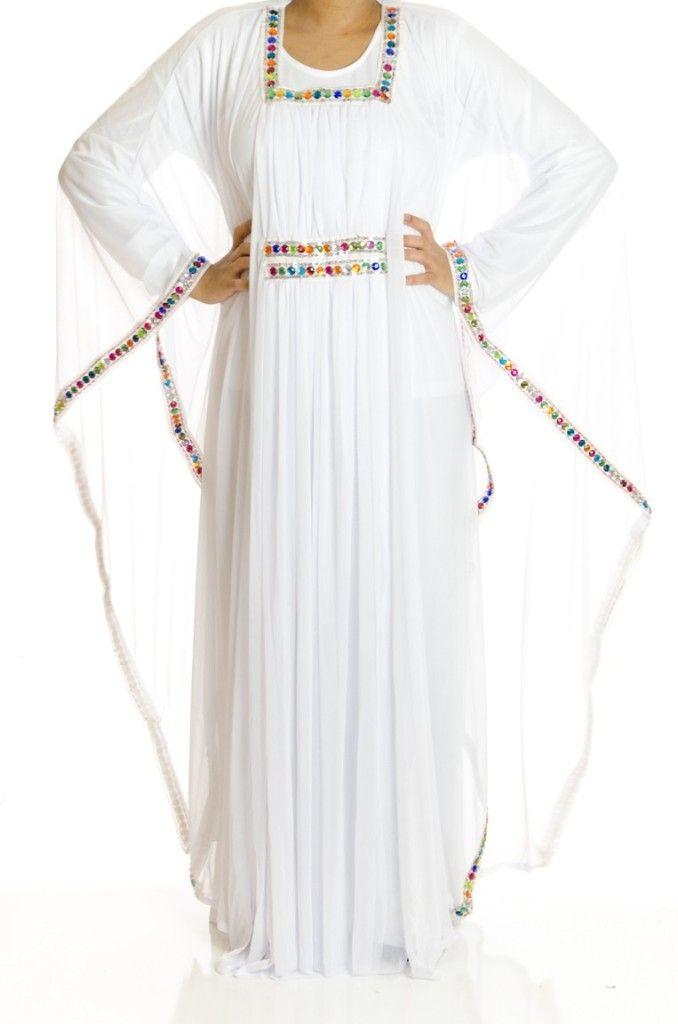 white kaftan dresses | Style By Moi