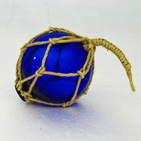 """4"""" Vintage-Style Glass Floating Ball Buoy With Rope - 3 ..."""
