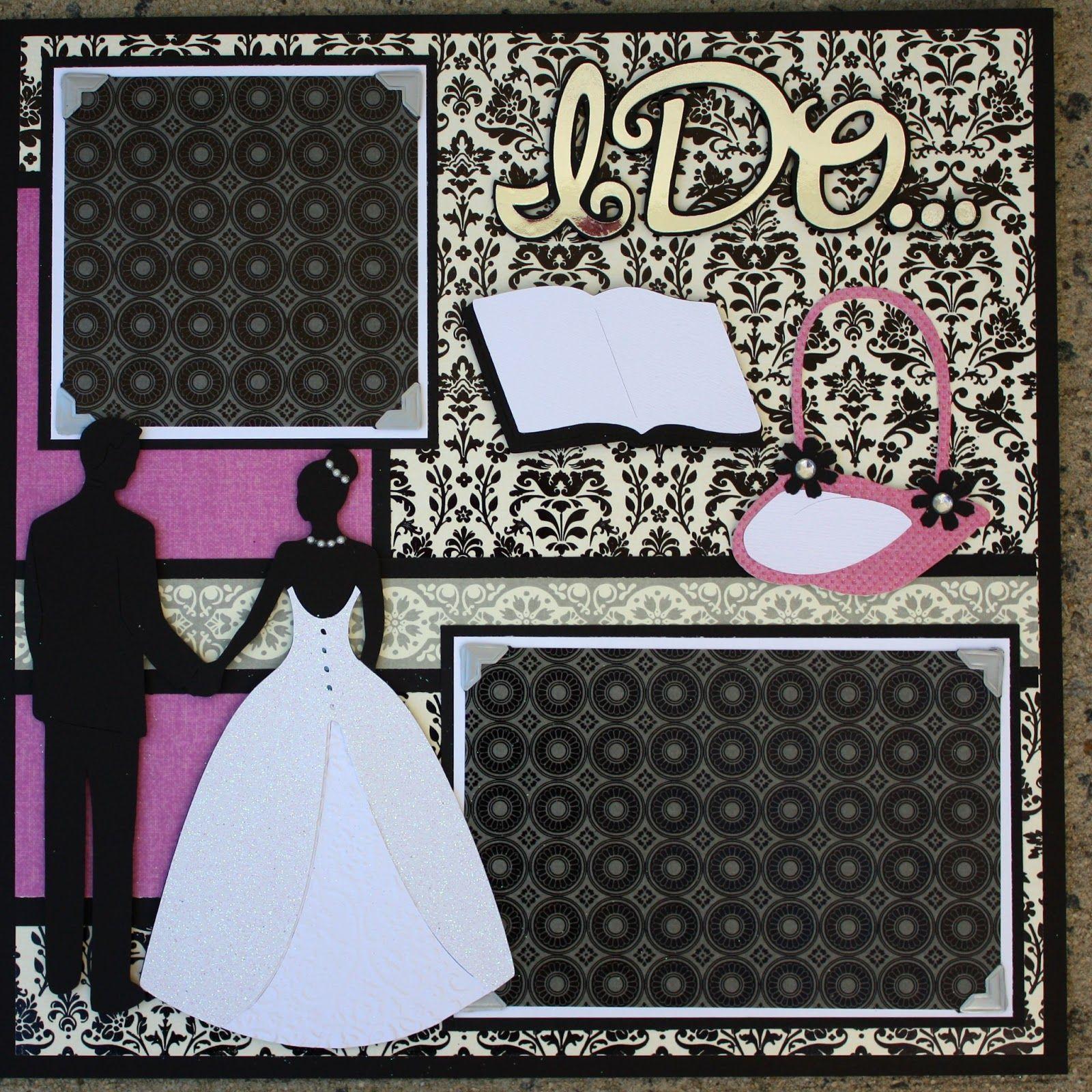 Wedding scrapbook ideas using cricut - Cricut Wedding Layouts Wedding Album Series Tie The Knot 12x12 Double Scrapbook Layout