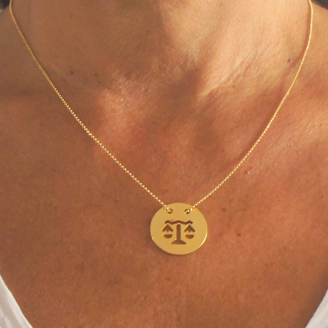 Zodiac necklace zodiac charm necklace astrology necklace