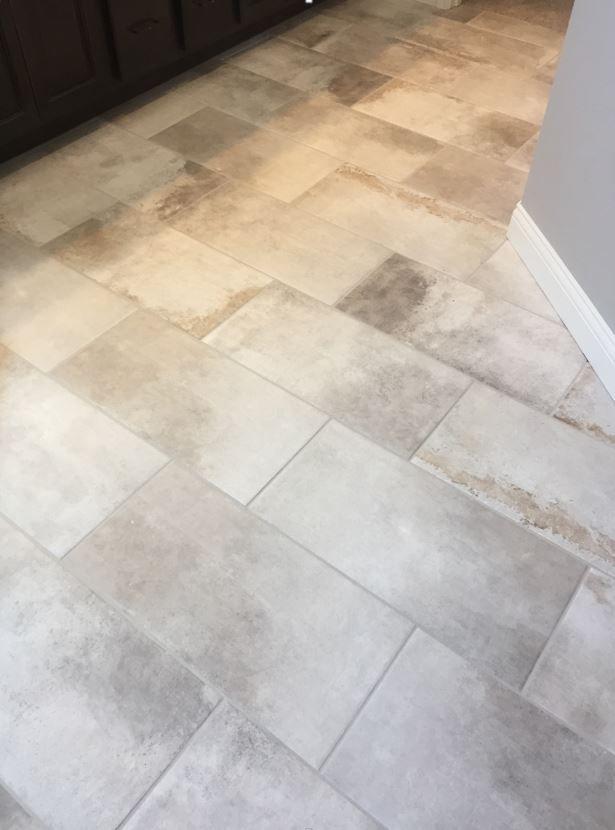 Cotto Contempo Pennsylvania Avenue 12x24 Floor Tile Installed Brick Joint Tile Floor Flooring Daltile