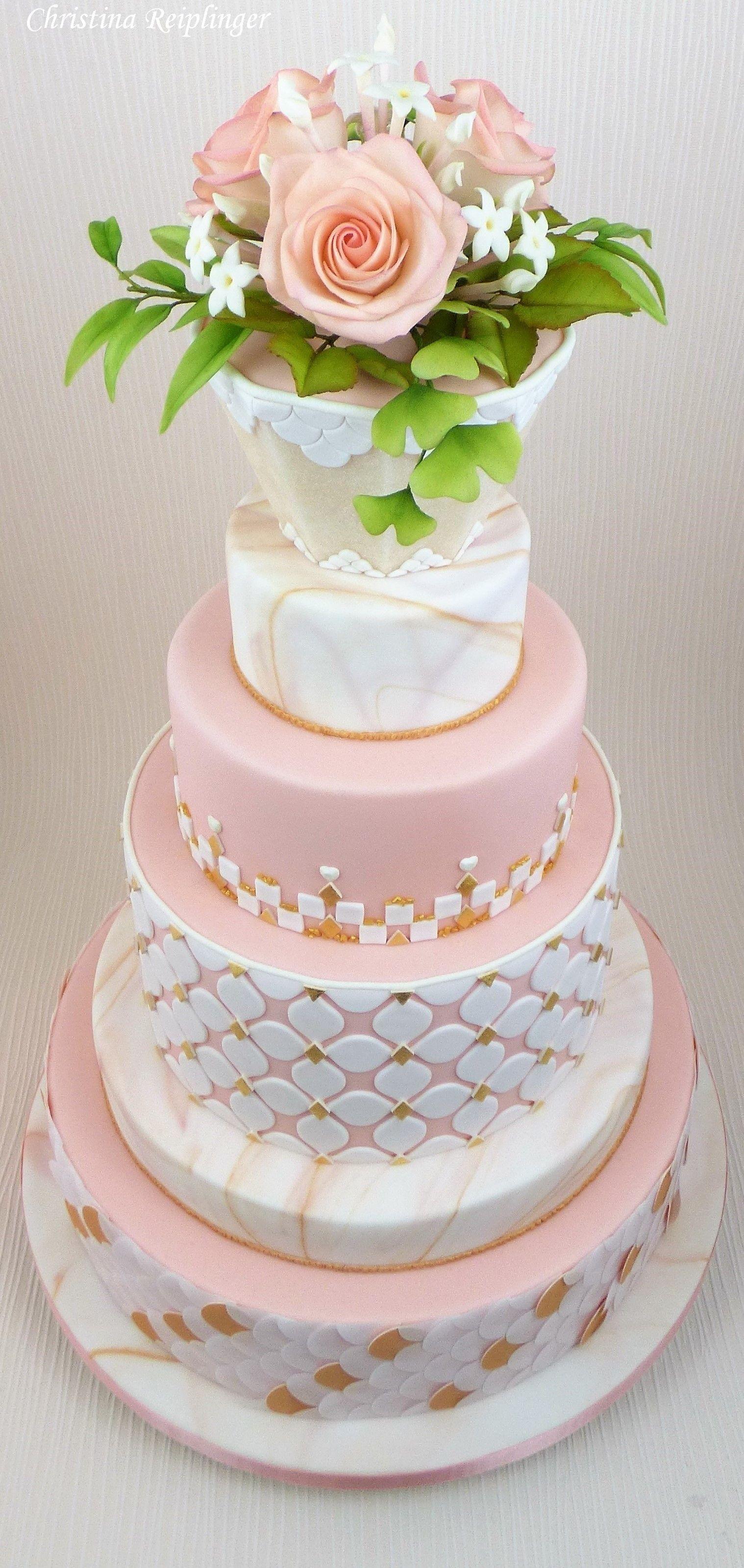 Hochzeitstorte Weeding Hochzeit Fondant Cakes Pinterest