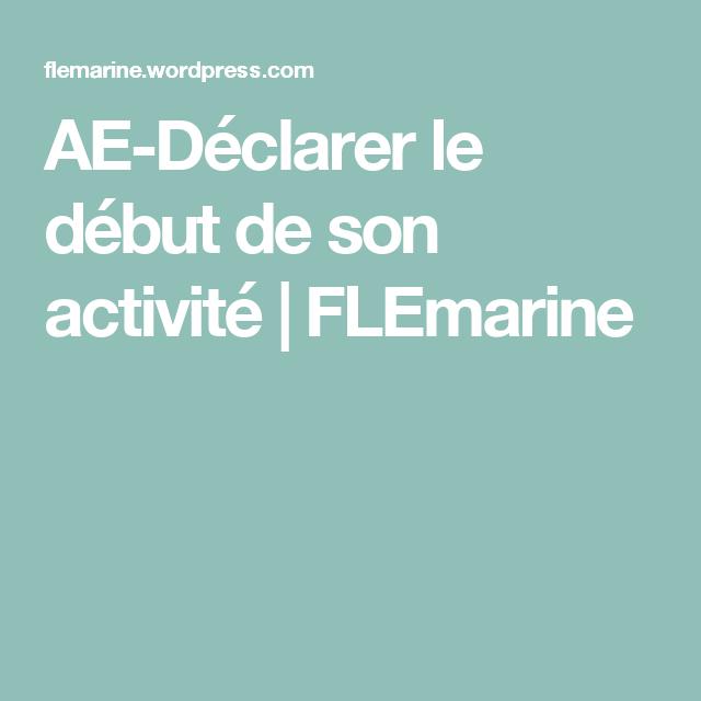 Ae Declarer Le Debut De Son Activite Astuce Creation Entreprise