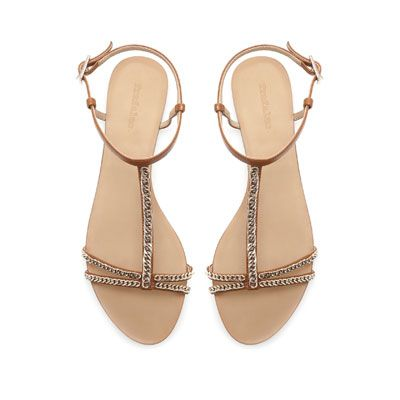 d3fceee9f435b Ankle strap sandal with chain    Zara