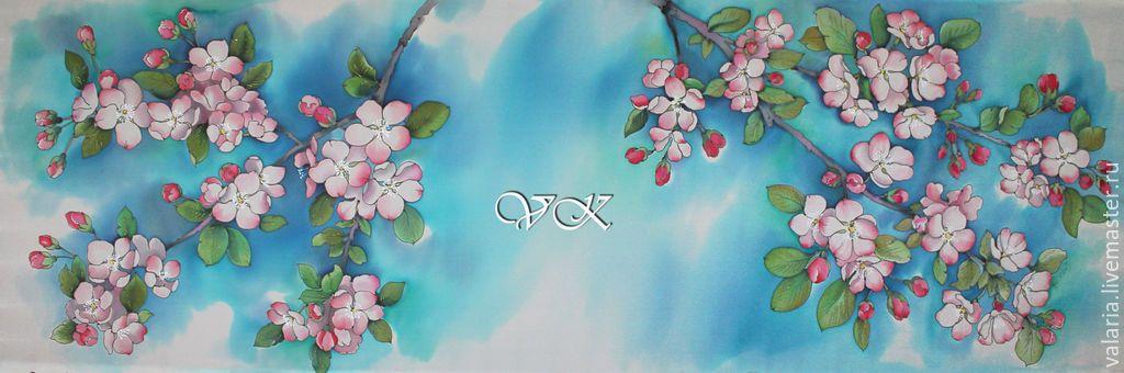 яблони в цвету батик картинки успехов пожелаем