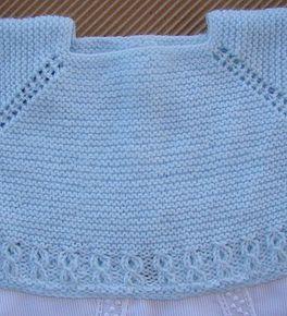 Tutorial para hacer jersey de beb baby cardigan punto - Jerseys faciles de hacer ...