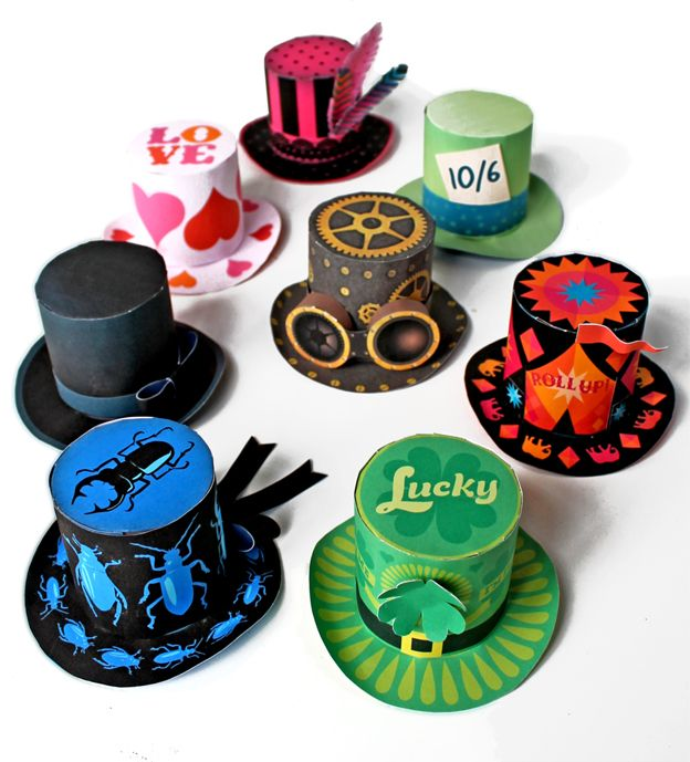 8 fantastic mini top hat template designs to download and print ...