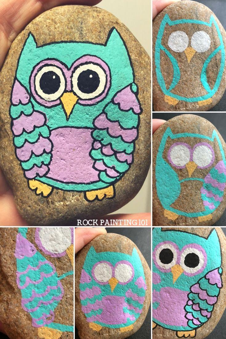 Animal Rock Painting Ideas Stone Art