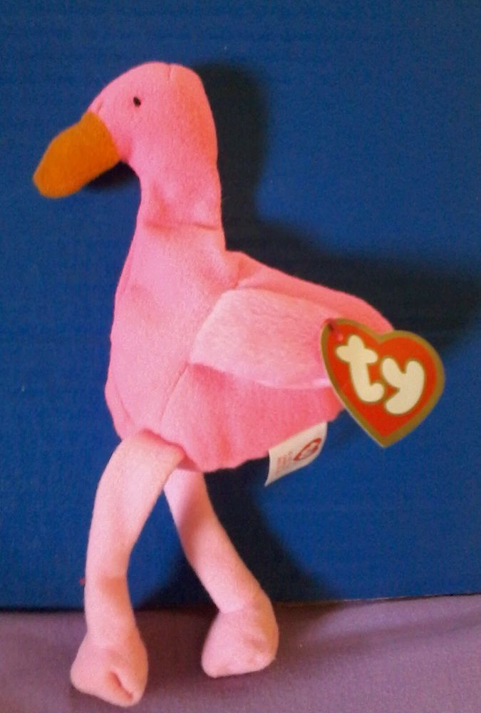 38e1d255d7b Pinky the Flamingo bird Ty Teenie Beanie Baby Plush with Tag Pink Mcd s  Babies