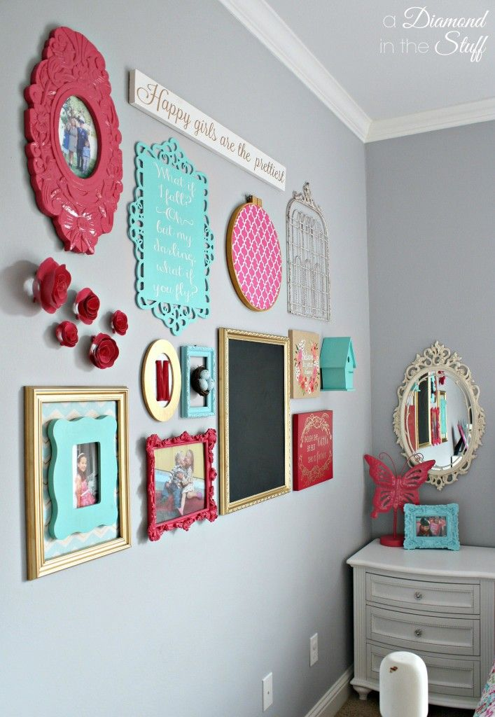 Girl 39 s room gallery wall a diamond in the stuff - Stuff for girls rooms ...