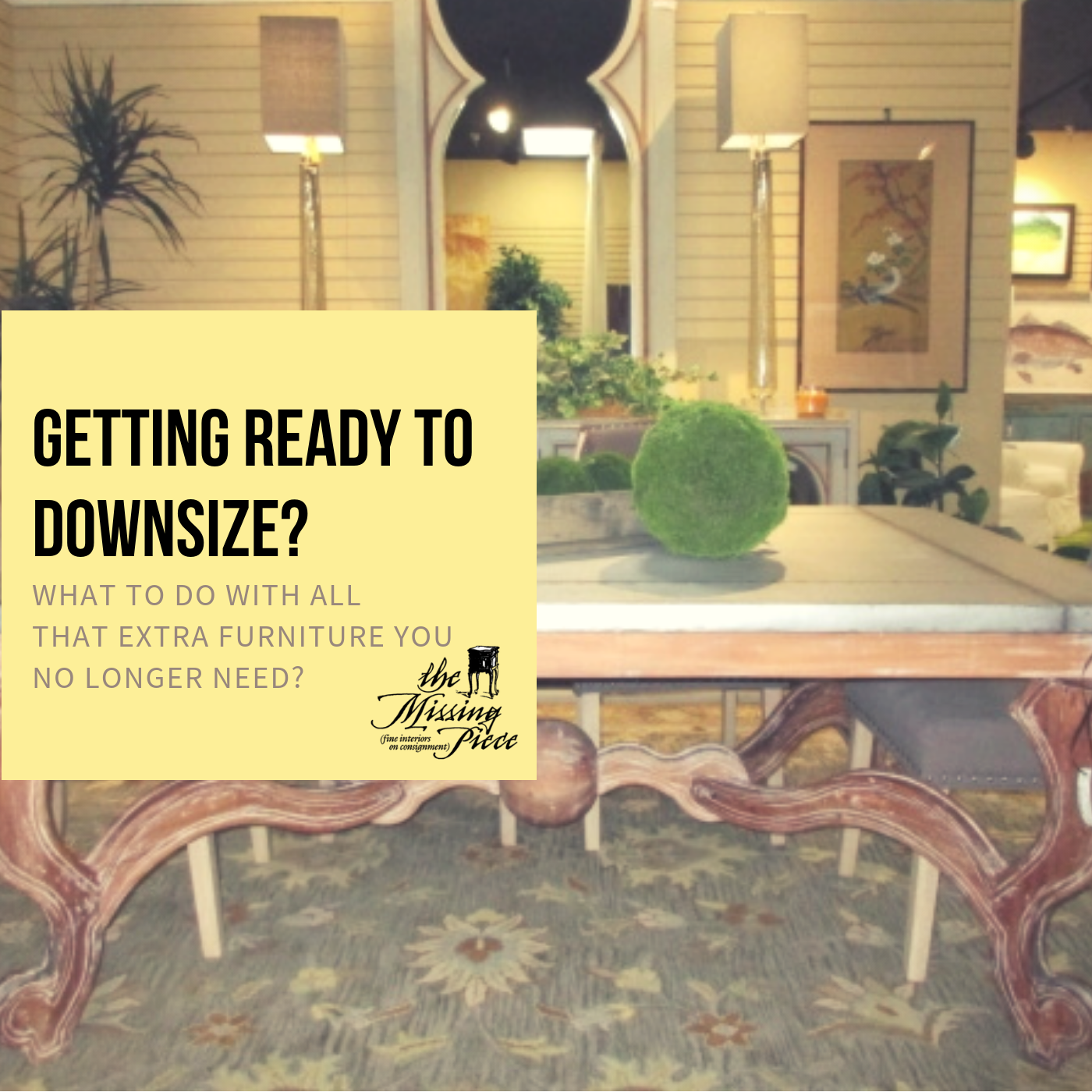 Don T Just Give It Away Let Us Turn Your Gently Used Furniture Into Cash