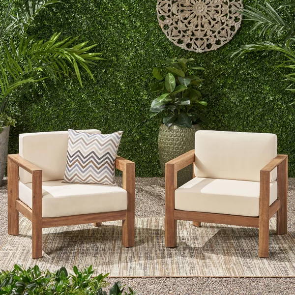 Anchor Your Backyard Or Patio Space In A Fresh And Classy Atmosphere With Their Patio Chair Featuring Acac Patio Chairs Outdoor Patio Chairs Wood Patio Chairs