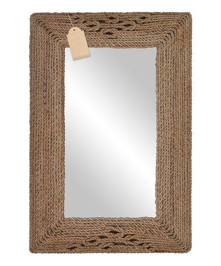 DIY inspiration-Rectangular Rope Mirror