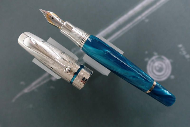 MONTEGRAPPA *MIYA ARGENTO Turquoise* Fountain Pen - New :: Inkwell Vintage and Classic Pens