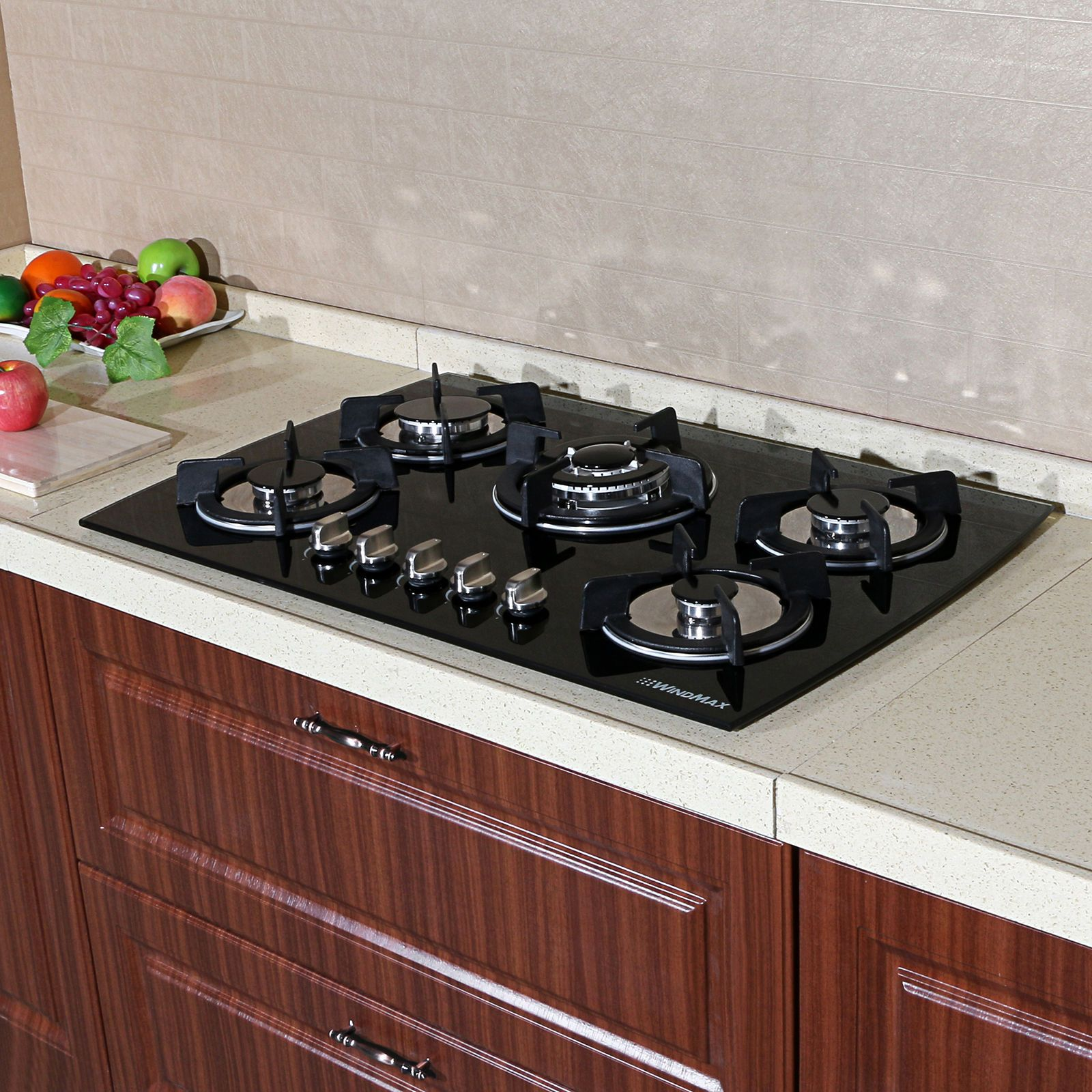 kitchen countertop range kutskokitchen gas cooktop with island brown
