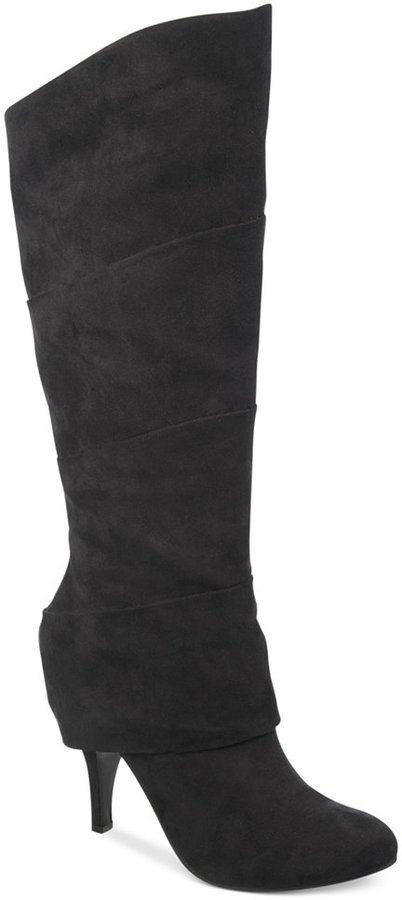 ea8fa20d4f6 Fergalicious Pledge Cuffed Wide Calf Boots on shopstyle.com