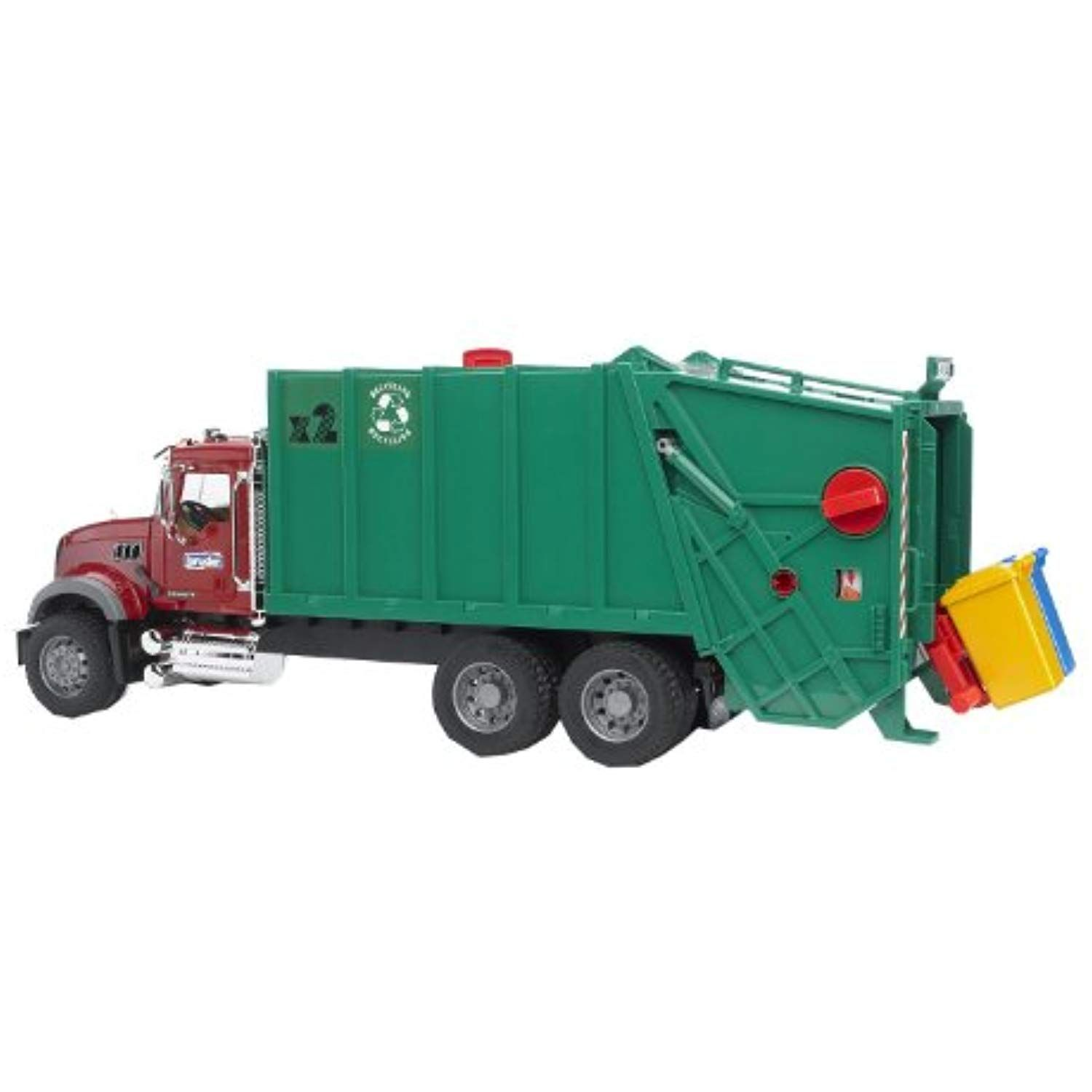 Bruder Toys Mack Granite Garbage Truck Ruby Red Green For More Information Visit Image Link This Is An Affiliate Lin Garbage Truck Trucks Play Vehicles