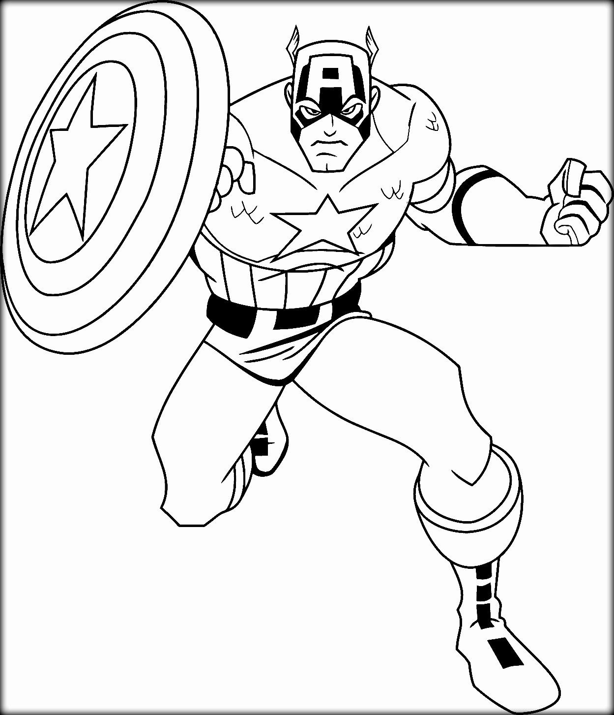 Captain America Coloring Page Awesome 33 Captain America Color