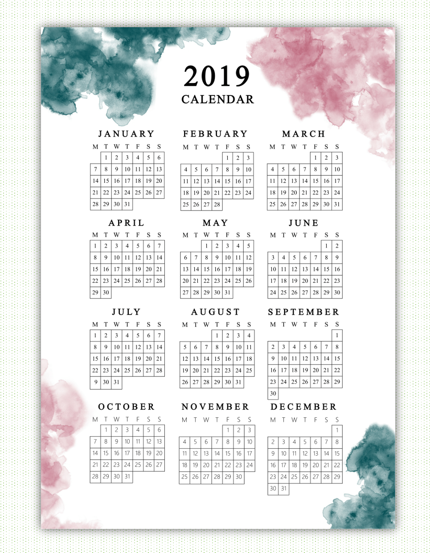 BONUS 2020 AND 2021 Bible Verse Calendar Printable | Christian