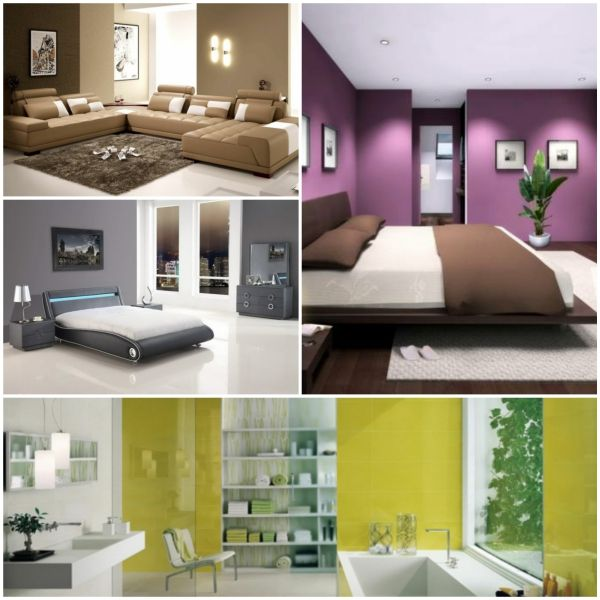 Lieblich Moderne Wandfarben Collage