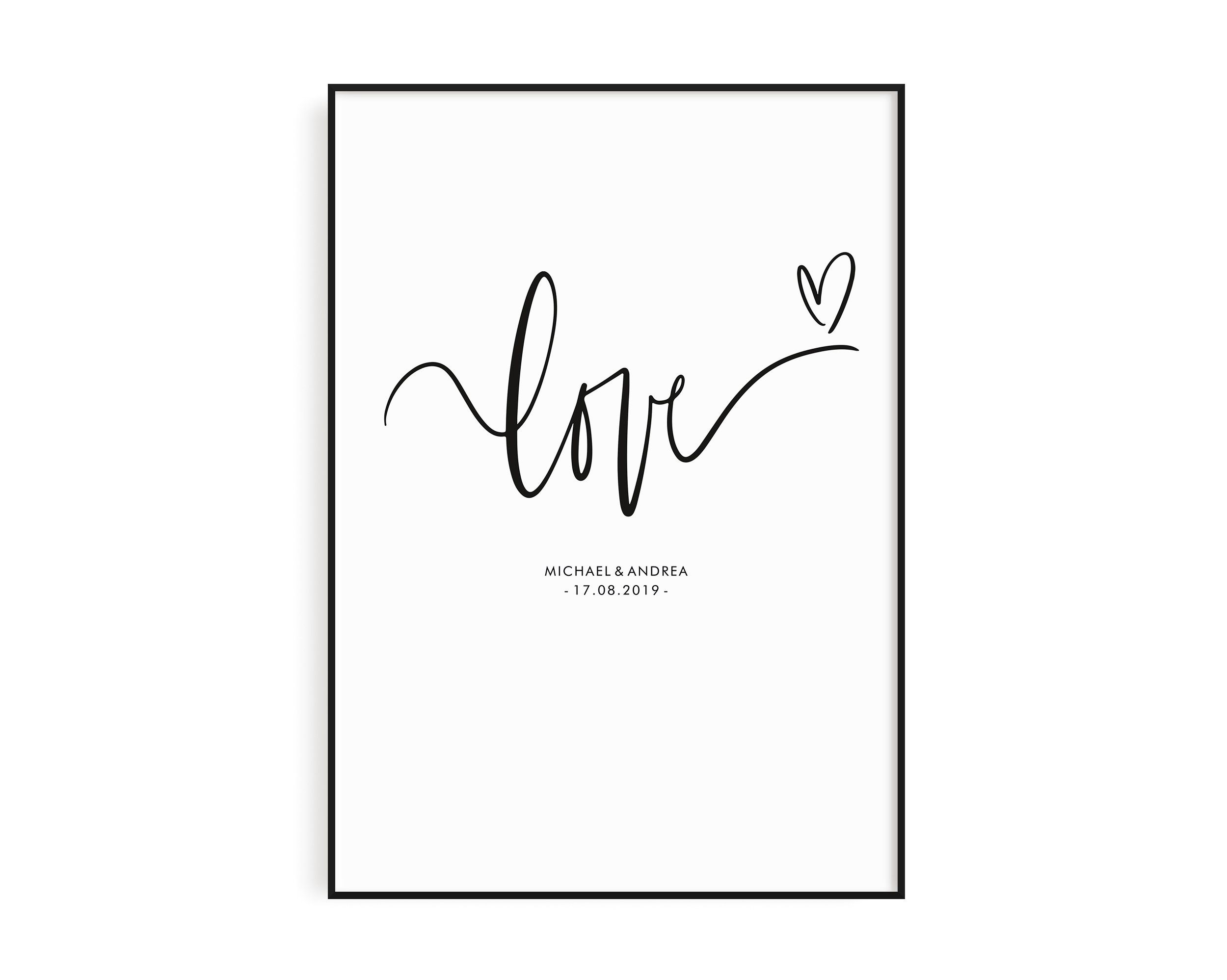 Poster Love Poster Bedroom Poster Engagement Poster Sayings Scandinavian Poster Poster Gift Gift Partner Poster Pairs Schlafzimmer Poster Poster Poster Sprüche