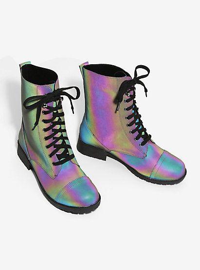 eda0cf3e7dfa59 Reflective Combat BootsReflective Combat Boots