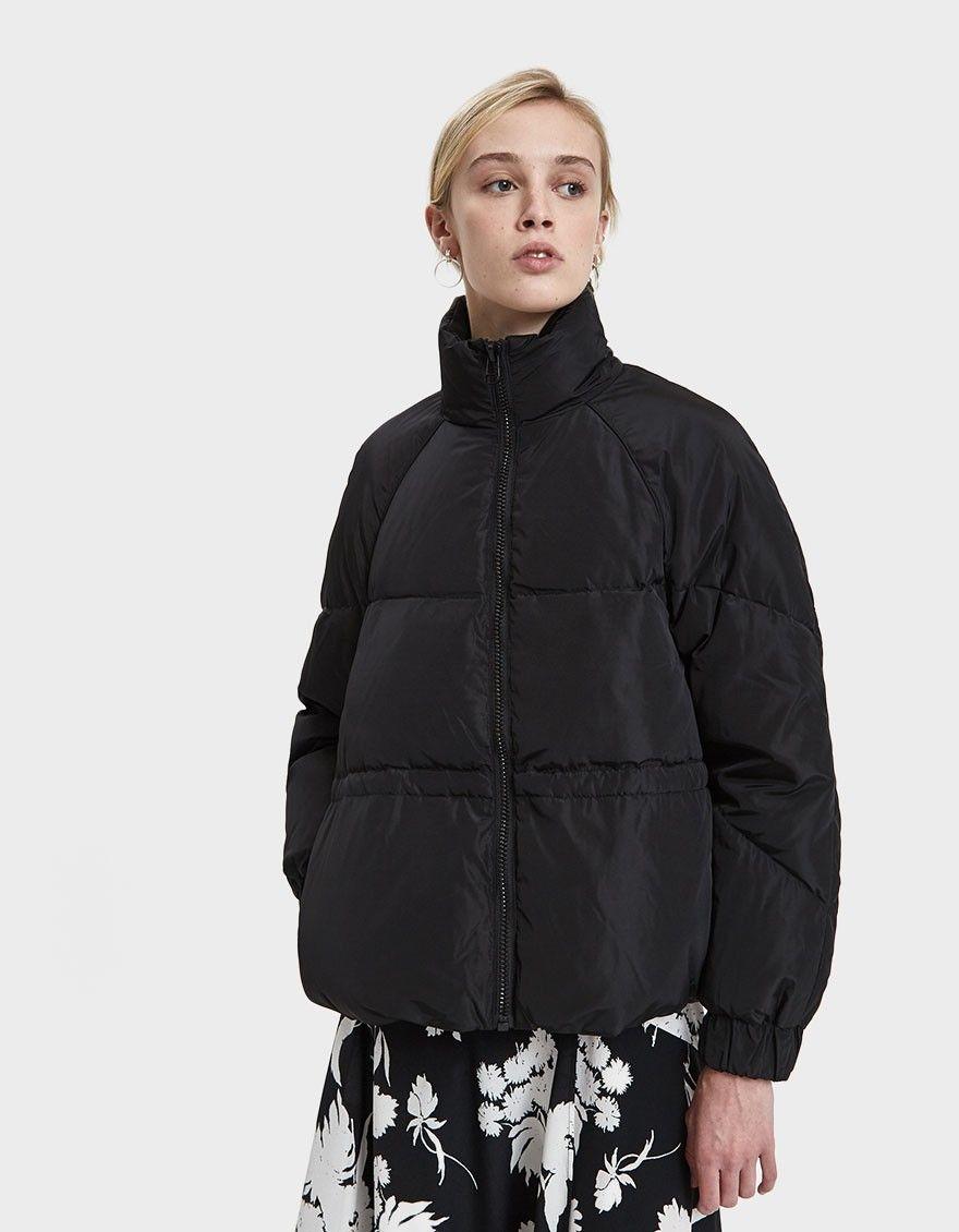 Ganni Whitman Short Puffer Jacket In Black Short Puffer Jacket Puffer Jackets Jackets [ 1130 x 880 Pixel ]