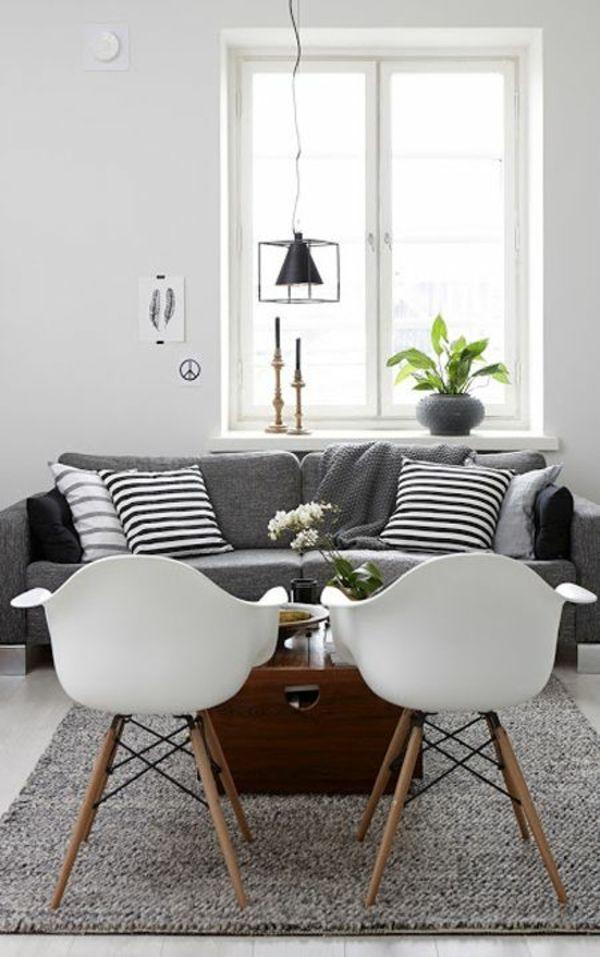 wohnzimmer skandinavisch einrichten ames stühle | wohnideen