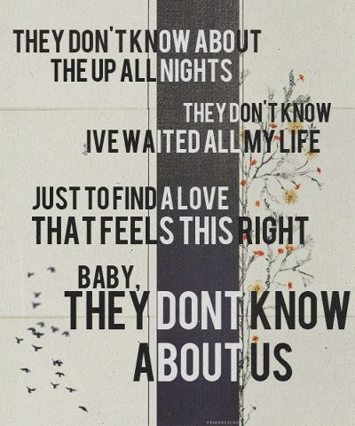 They dont know about us one direction deep thoughts soundtrack to my life thecheapjerseys Gallery