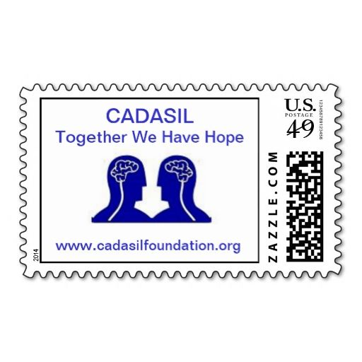 CADASIL Stamp. This great business card design is available for customization. All text style, colors, sizes can be modified to fit your needs. Just click the image to learn more!