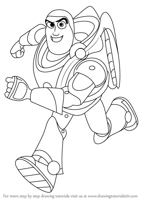 Step by Step How to Draw Buzz Lightyear from Toy Story
