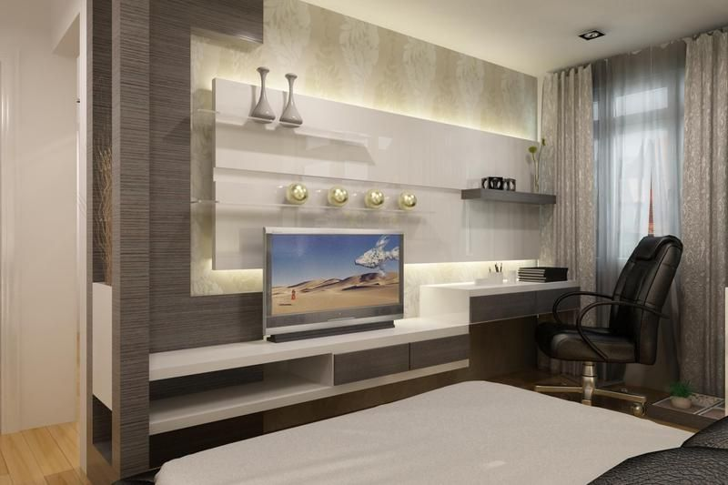 Modern Bedroom Pictures With Tv led tv panels designs for living room and bedrooms | designer tv