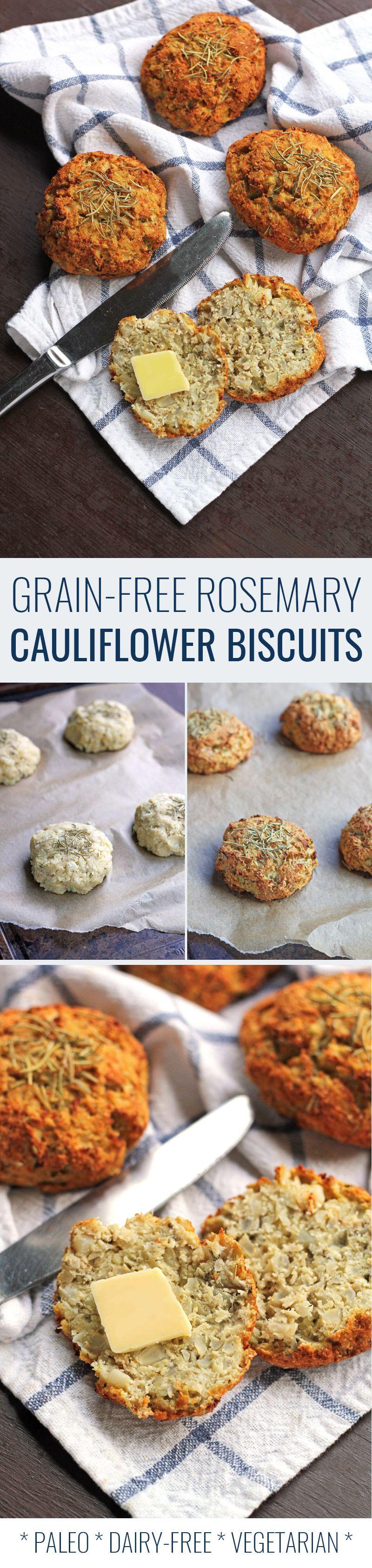 Grain Free Rosemary Cauliflower Biscuits Paleo Baking Grain