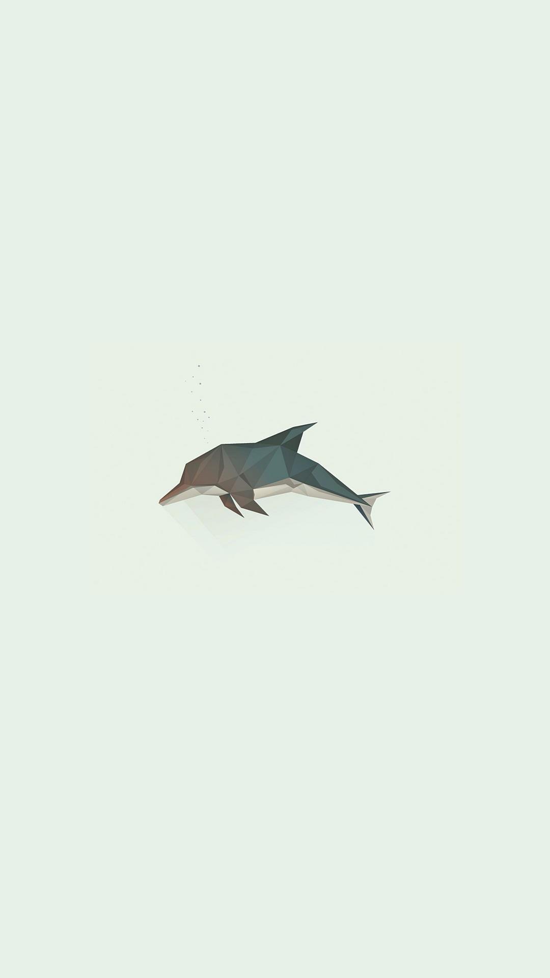 Mobile Full Hd Minimal Wallpaper 1080x1920 Dolphin Art Minimal Wallpaper Wallpaper
