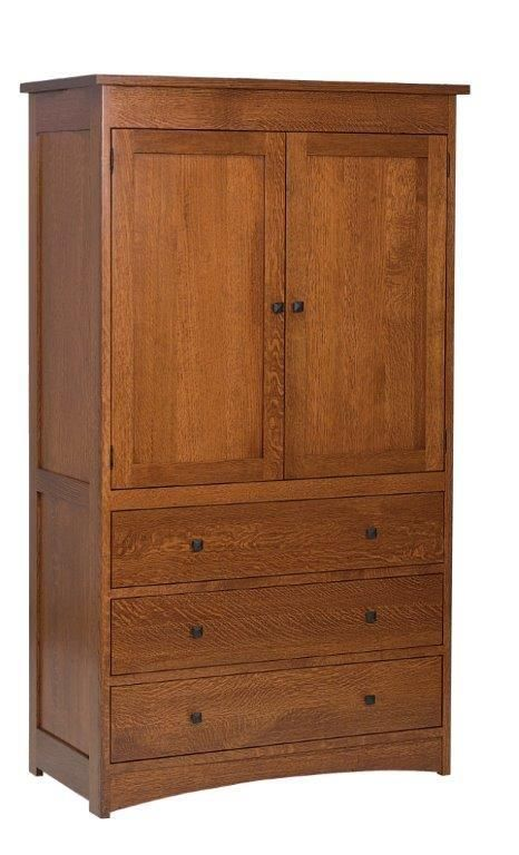 Jacobson Armoire with Three Drawers and Two Doors