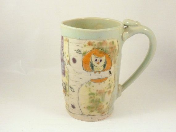 Handmade ceramic coffee cup / Pottery Mug WM48 by BlueSkyPotteryCO, $35.00