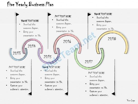 1013 Business Ppt Diagram Five Yearly Business Plan Powerpoint - powerpoint calendar template
