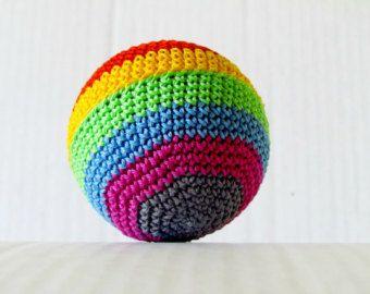 Rainbow Crochet Amigurumi Ball Toy For Baby Crochet Toys
