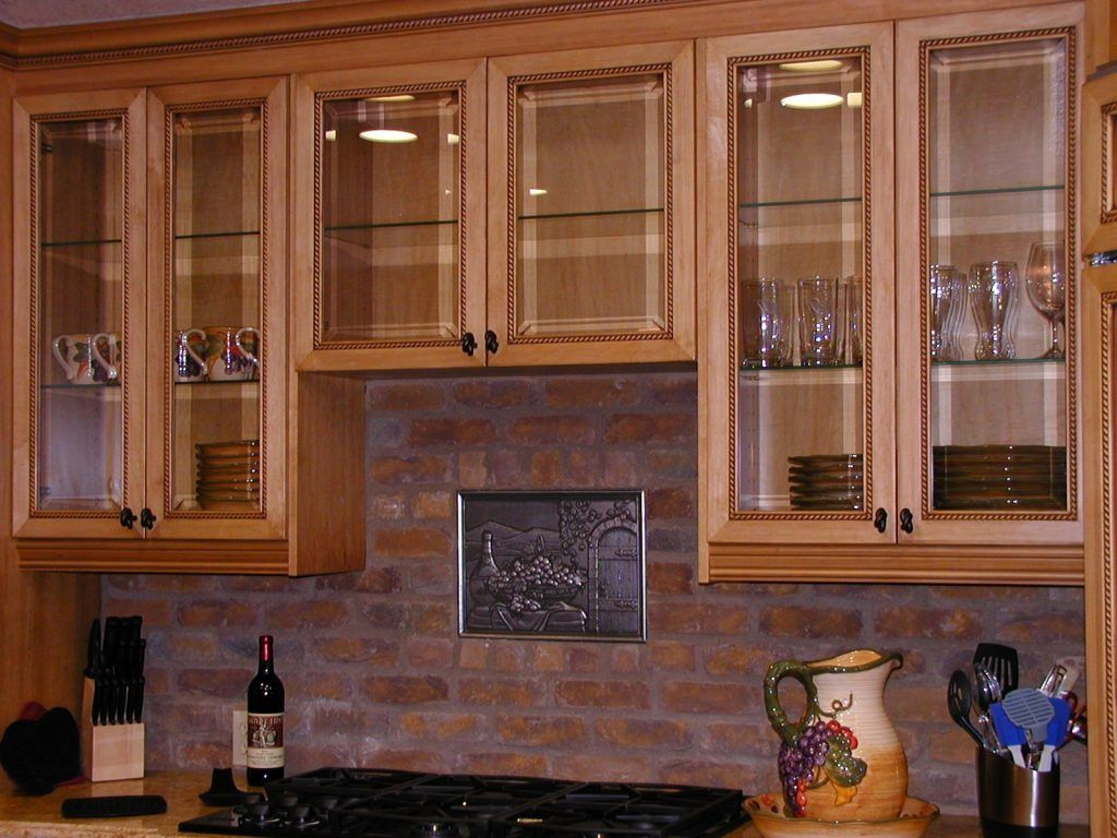 Beautiful Frosted Glass Kitchen Cabinet Doors Design Ideas ...