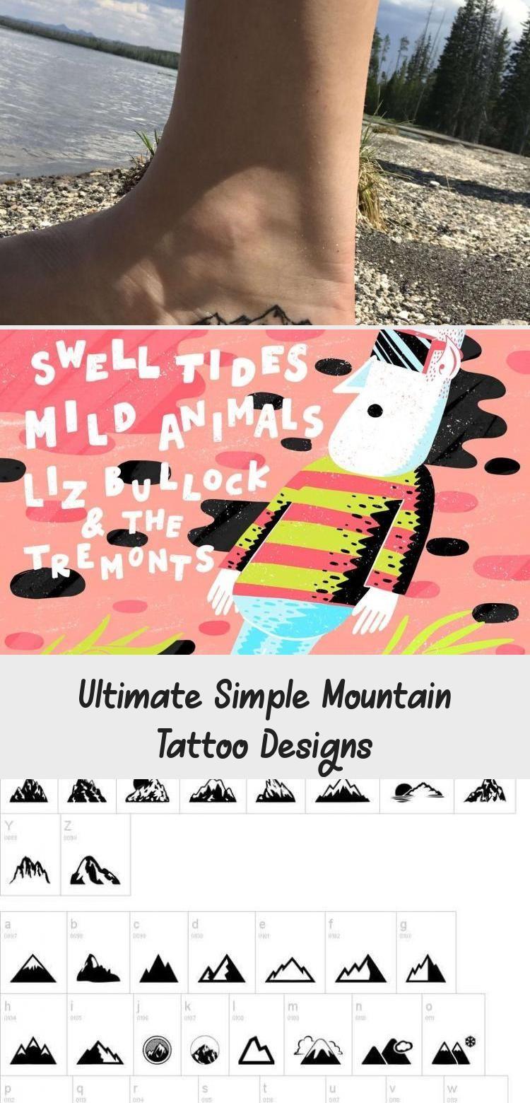 Small Acid Tattoo: Ultimate Simple Mountain Tattoo Designs