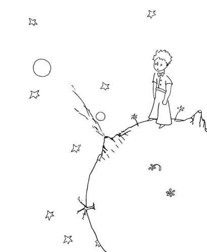 O Pequeno Principe Para Colorir Desenho Pequeno Principe