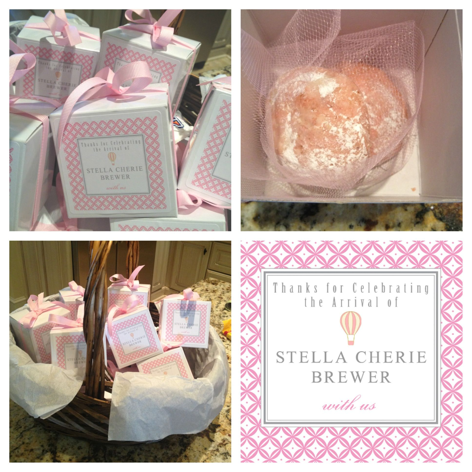 Hospital Favors Baby Stella Cherié Pinterest