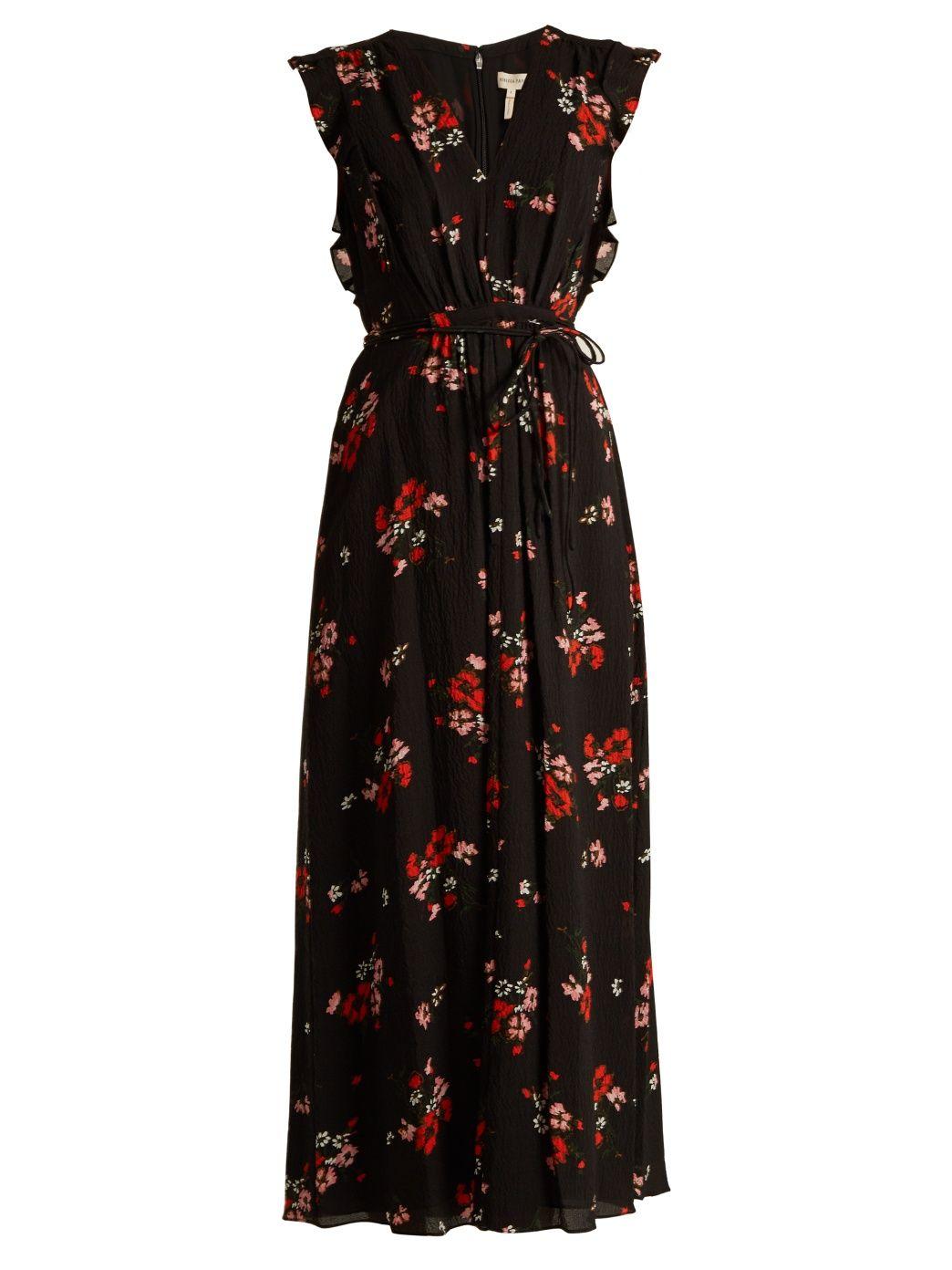 Marguerite floral-print silk-blend crepe dress | Rebecca Taylor | MATCHESFASHION.COM
