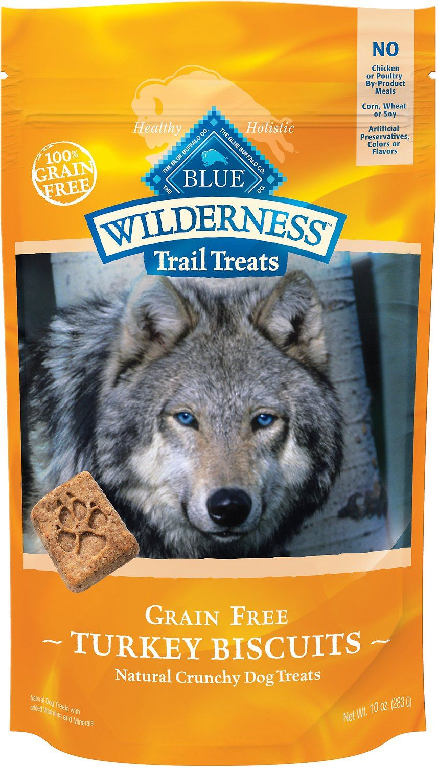 Blue Buffalo Wilderness Trail Treats Turkey Biscuits Grain