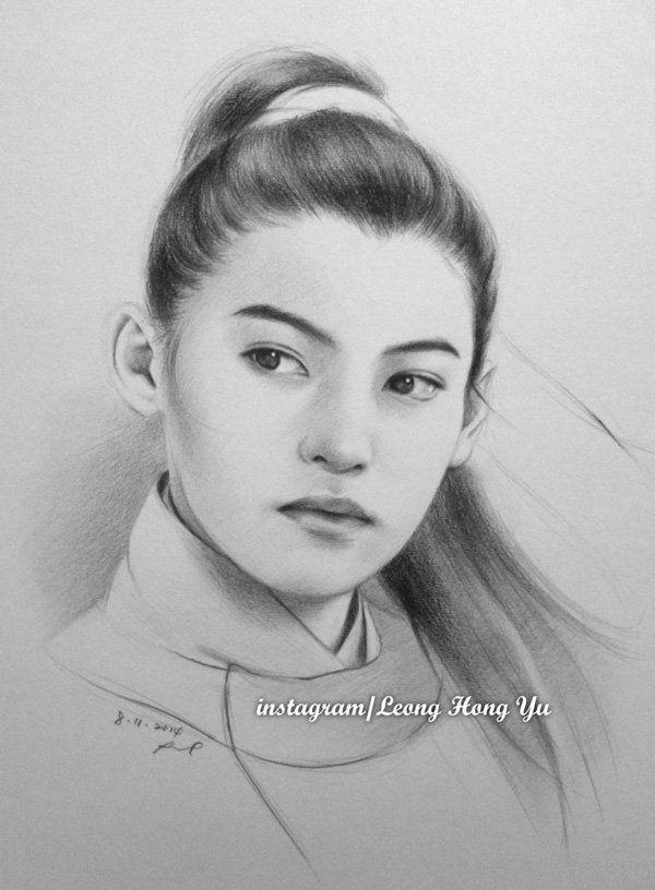 cecilia cheung by hong yu - Pencil Drawings by Leong Hong Yu  <3 <3